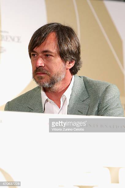 Designer Marc Newson attends the Conde' Nast International Luxury Conference at Palazzo Vecchio on April 22 2015 in Florence Italy