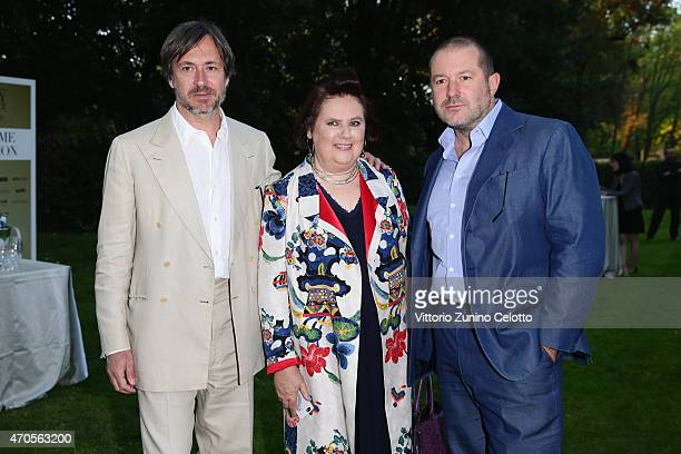 Designer Marc Newson International Vogue Editor Suzy Menkes and Designer Jonathan Ive attend the Conde' Nast International Luxury Conference Welcome...