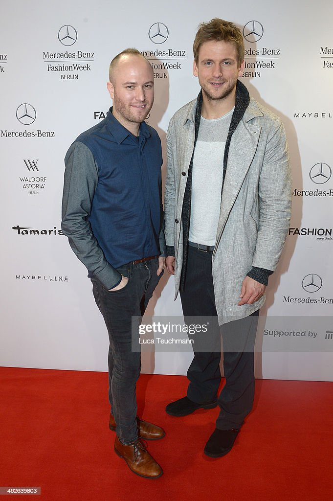 Designer Marc Stone and Steve Windolf attend the Marc Stone show during Mercedes-Benz Fashion Week Autumn/Winter 2014/15 at Brandenburg Gate on January 14, 2014 in Berlin, Germany.