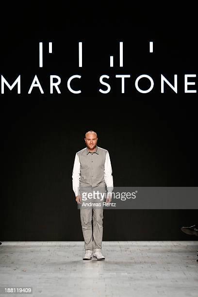 Designer Marc Stone on the runway after the Marc Stone show during MercedesBenz Fashion Days Zurich 2013 on November 15 2013 in Zurich Switzerland