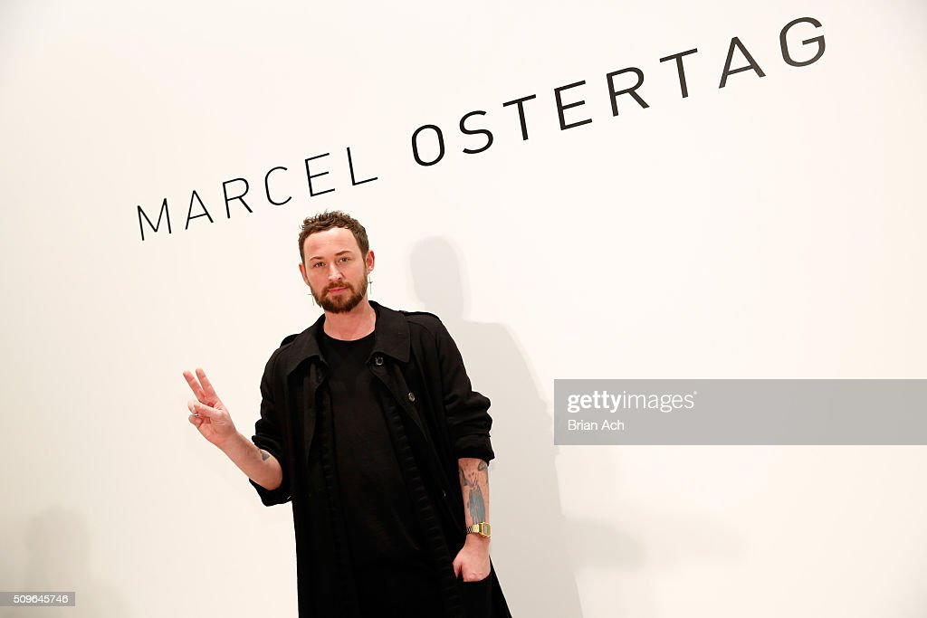 Designer <a gi-track='captionPersonalityLinkClicked' href=/galleries/search?phrase=Marcel+Ostertag+-+Fashion+Designer&family=editorial&specificpeople=4594209 ng-click='$event.stopPropagation()'>Marcel Ostertag</a> attends the <a gi-track='captionPersonalityLinkClicked' href=/galleries/search?phrase=Marcel+Ostertag+-+Fashion+Designer&family=editorial&specificpeople=4594209 ng-click='$event.stopPropagation()'>Marcel Ostertag</a> show- Backstage at The Gallery, Skylight at Clarkson Sq on February 11, 2016 in New York City.
