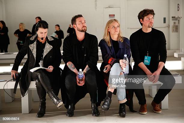 Designer Marcel Ostertag oversees activities at the Marissa Webb Fall 2016 fashion show during New York Fashion Week The Shows at The Gallery...