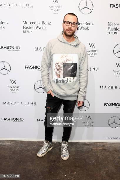 Designer Marcell von Berlin attends the Ewa Herzog show during the MercedesBenz Fashion Week Berlin Spring/Summer 2018 at Kaufhaus Jandorf on July 4...