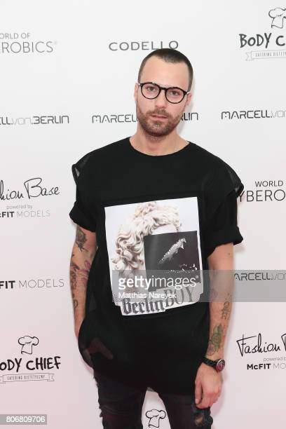 Designer Marcell von Berlin is seen during the Marcell von Berlin 'Genesis' collection presentation on July 3 2017 in Berlin Germany