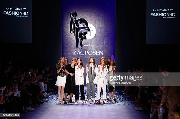 Designer Mareike Massing is awarded on the runway at the fashion talent award 'Designer for Tomorrow' by Peek Cloppenburg and Fashion ID hosted by...