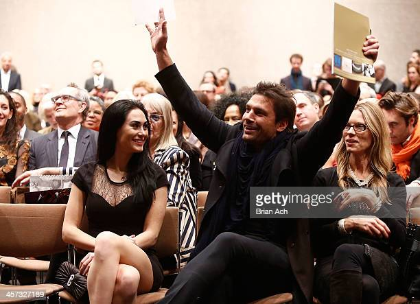 Designer Maria Valentino and actor Manu Bennett attend the 11th annual Tibet House Benefit Auction to preserve Tibetan culture at Christie's Auction...