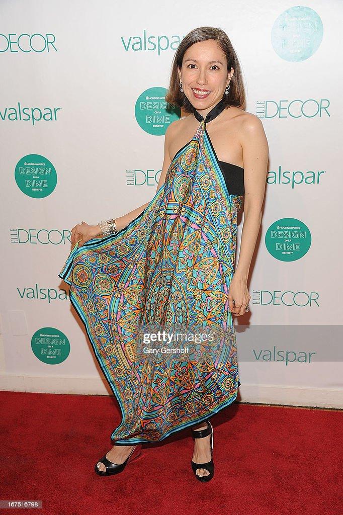Designer Marisol Deluna attends Housing Works 9th Annual Design On A Dime Benefit at Metropolitan Pavilion on April 25, 2013 in New York City.
