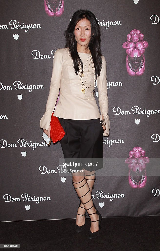 Designer Marissa Webb attends the Dom Perignon Limited Edition Jeff Koons Bottle Launch at 711 Greenwich Street on September 10, 2013 in New York City.
