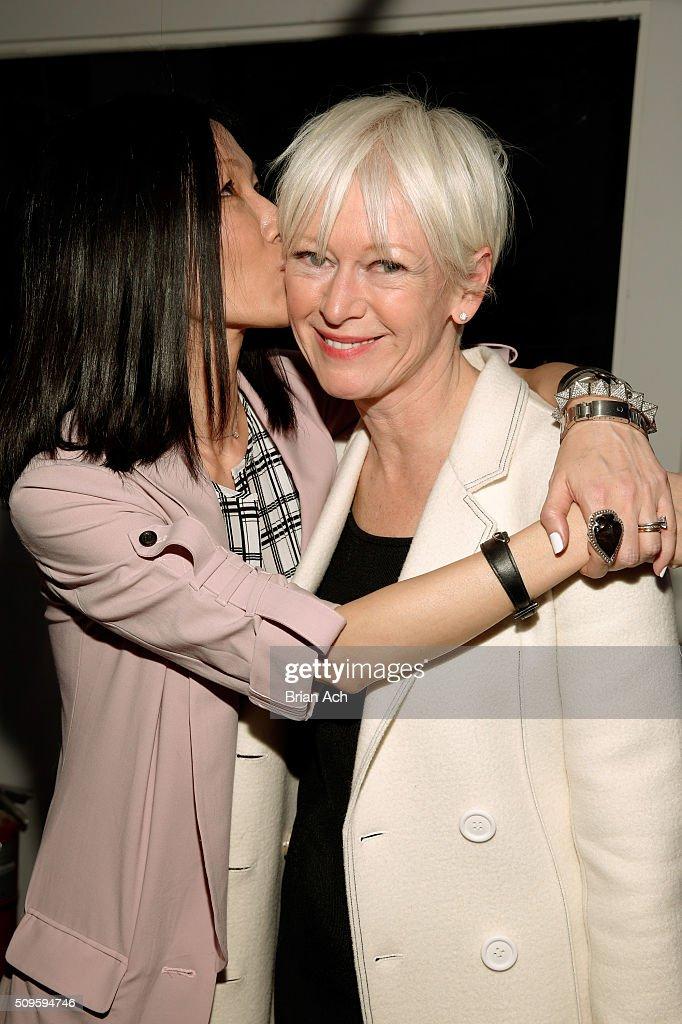 Designer Marissa Webb embraces Editor In Chief of Cosmopolitan Magazine Joanna Coles at the Marissa Webb Fall 2016 fashion show during New York...