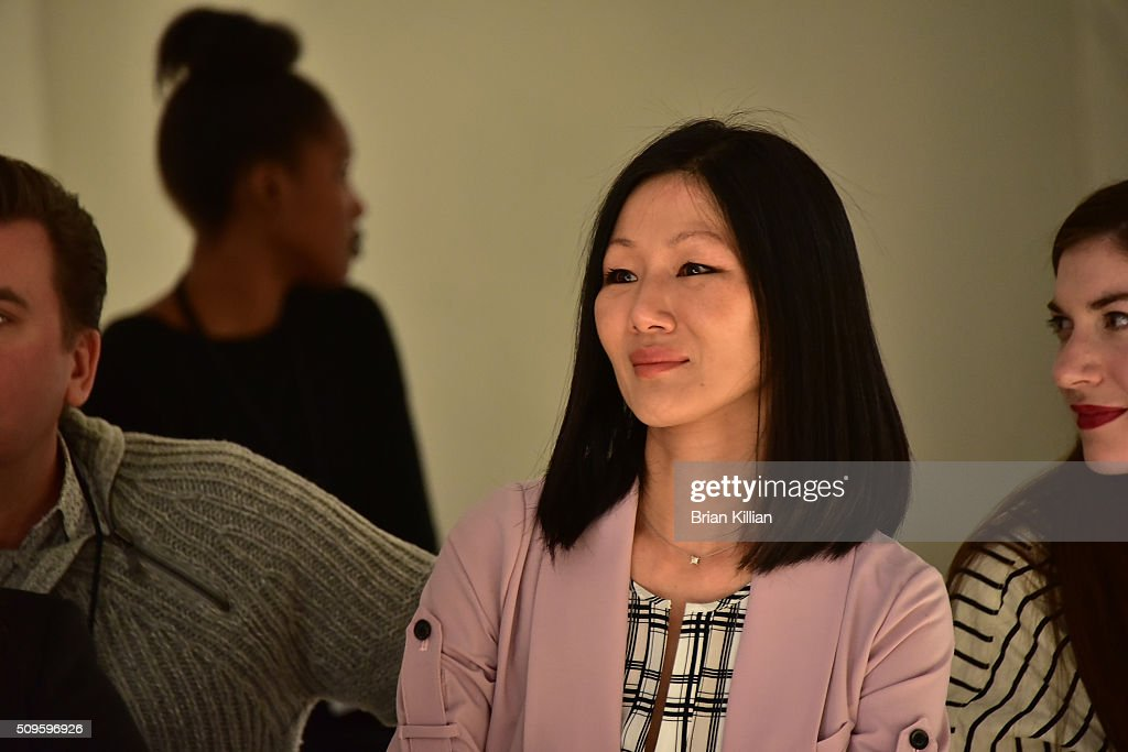 Designer Marissa Webb watches rehearsal just before the start of the Marissa Webb Fall 2016 show during New York Fashion Week: The Shows at The Gallery, Skylight at Clarkson Sq on February 11, 2016 in New York City.