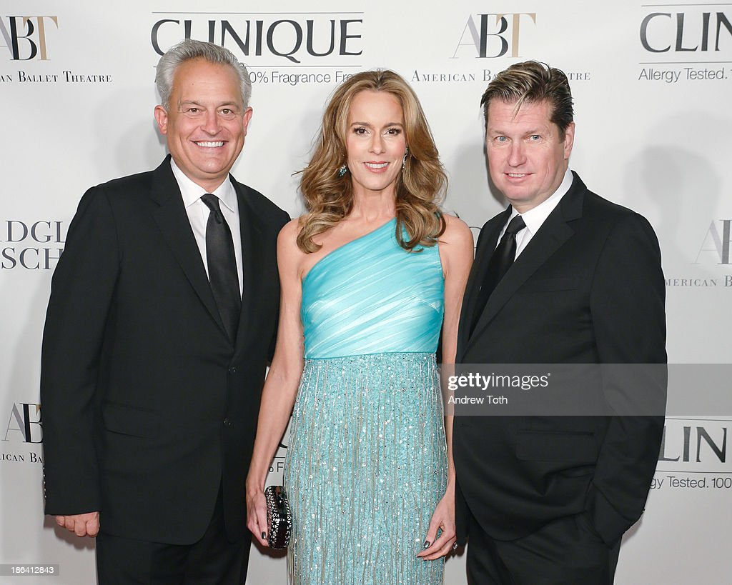 Designer Mark Badgley, Julia Koch and designer James Mischka attend the American Ballet Theatre 2013 Opening Night Fall gala at David Koch Theatre at Lincoln Center on October 30, 2013 in New York City.