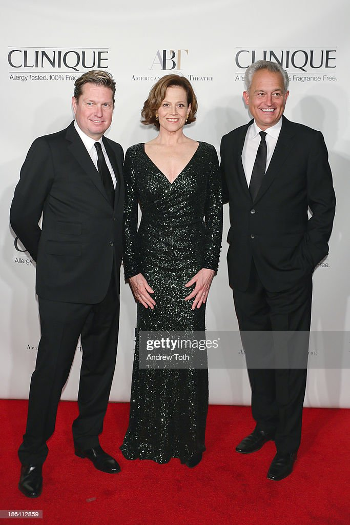 Designer Mark Badgley, Sigourney Weaver and designer James Mischka attend the American Ballet Theatre 2013 Opening Night Fall gala at David Koch Theatre at Lincoln Center on October 30, 2013 in New York City.