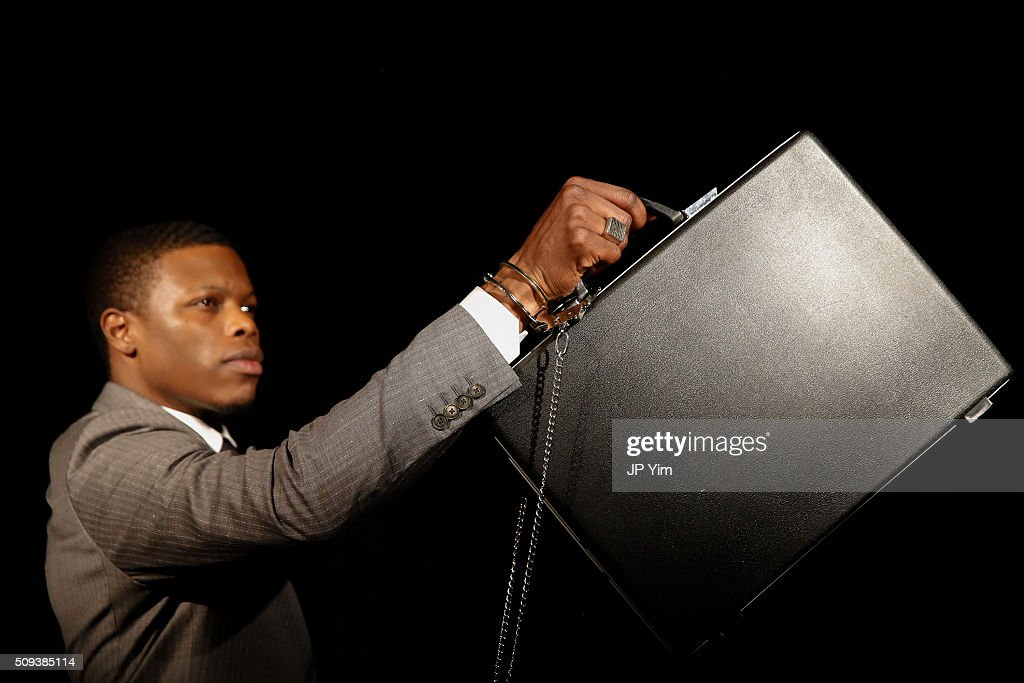 Designer Marlon Taylor-Wiles presents jewelry from his George Frost Collection during New York Fashion Week Fall 2016 at Highline Loft on February 10, 2016 in New York City.