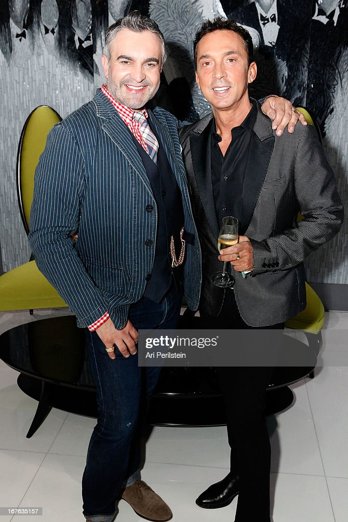 Designer Martyn Lawrence Bullard and <a gi-track='captionPersonalityLinkClicked' href=/galleries/search?phrase=Bruno+Tonioli&family=editorial&specificpeople=742704 ng-click='$event.stopPropagation()'>Bruno Tonioli</a> attend Christopher Guy Britweek Event Honoring Jaguar Creative Director Ian Callum at Christopher Guy Beverly Hills on April 27, 2013 in Beverly Hills, California.