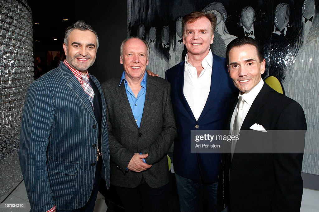 Designer Martyn Lawrence Bullard, Creative Director of Jaguar Ian Callum, Designer Christopher Guy, and President of Christopher Guy <a gi-track='captionPersonalityLinkClicked' href=/galleries/search?phrase=Paul+Watson+-+Environmentalist&family=editorial&specificpeople=15279060 ng-click='$event.stopPropagation()'>Paul Watson</a> attend Christopher Guy Britweek Event Honoring Jaguar Creative Director Ian Callum at Christopher Guy Beverly Hills on April 27, 2013 in Beverly Hills, California.