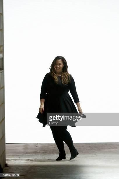 Designer Mary Katrantzou at the Mary Katrantzou show during London Fashion Week September 2017 on September 17 2017 in London England