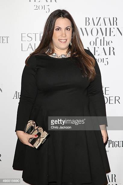 Designer Mary Katrantzou attends Harper's Bazaar Women of the Year Awards at Claridge's Hotel on November 3 2015 in London England