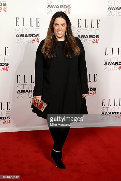 Designer Mary Katrantzou attends the Elle Style Awards 2015 at Sky Garden @ The Walkie Talkie Tower on February 24 2015 in London England