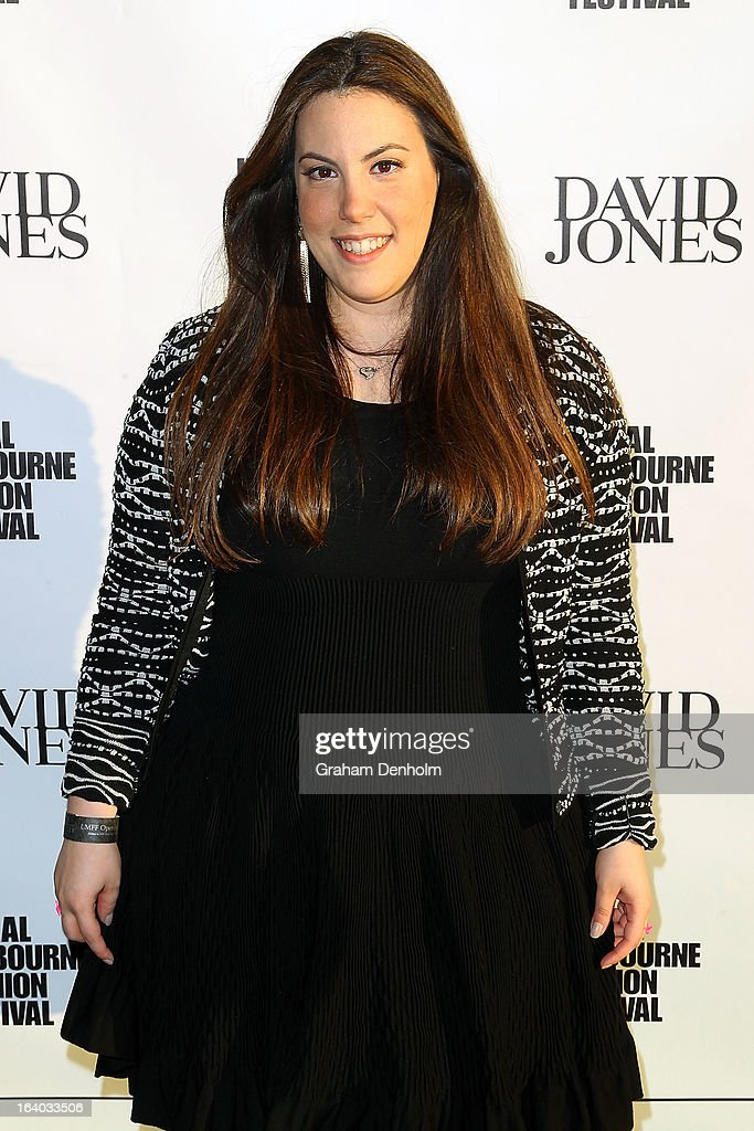 Designer Mary Katrantzou poses as she arrives for the L'Oreal Melbourne Fashion Festival Opening Event presented by David Jones at Docklands on March 19, 2013 in Melbourne, Australia.