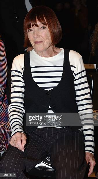 Designer Mary Quant attends the Jasper Conran fashion show for London Fashion Week held at the BFC Tent on Kings Road September 24 2003 in London...