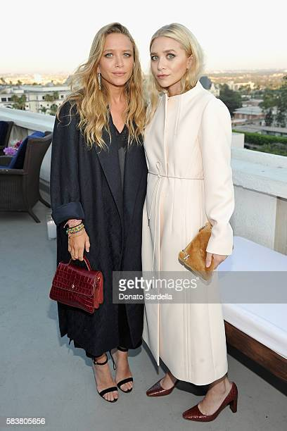 Designer MaryKate Olsen and designer Ashley Olsen attend Elizabeth and James Flagship Store Opening Celebration with InStyle at Chateau Marmont on...