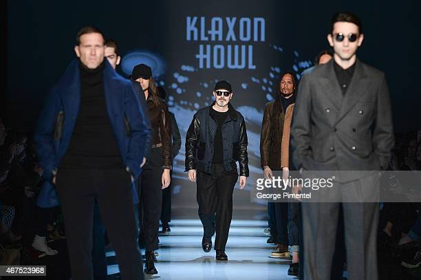 Designer Matt Robinson presents his fall 2015 Collection during World MasterCard Fashion Week Fall 2015 at David Pecaut Square on March 25 2015 in...