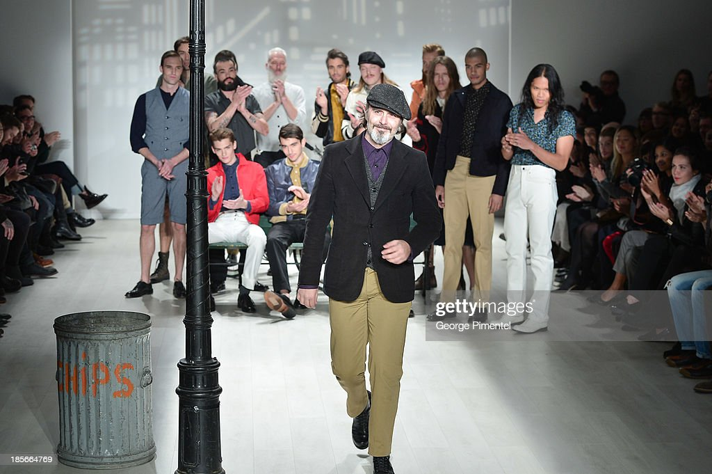 Designer <a gi-track='captionPersonalityLinkClicked' href=/galleries/search?phrase=Matt+Robinson&family=editorial&specificpeople=4700604 ng-click='$event.stopPropagation()'>Matt Robinson</a> presents Klaxon Howl during World MasterCard Fashion Week Spring 2014 at David Pecaut Square at David Pecaut Square on October 23, 2013 in Toronto, Canada.