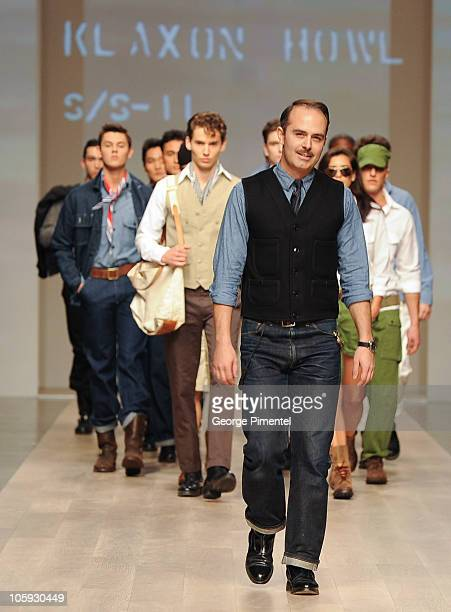 Designer Matt Robinson presents Klaxon Howl spring 2011 collection at Heritage Court Exhibition Place on October 21 2010 in Toronto Canada
