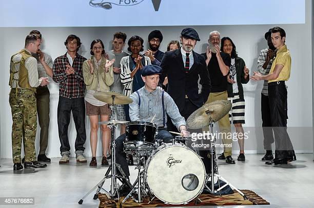Designer Matt Robinson presents Klaxon Howl spring 2015 collection during World MasterCard Fashion Week Spring 2015 at David Pecaut Square on October...
