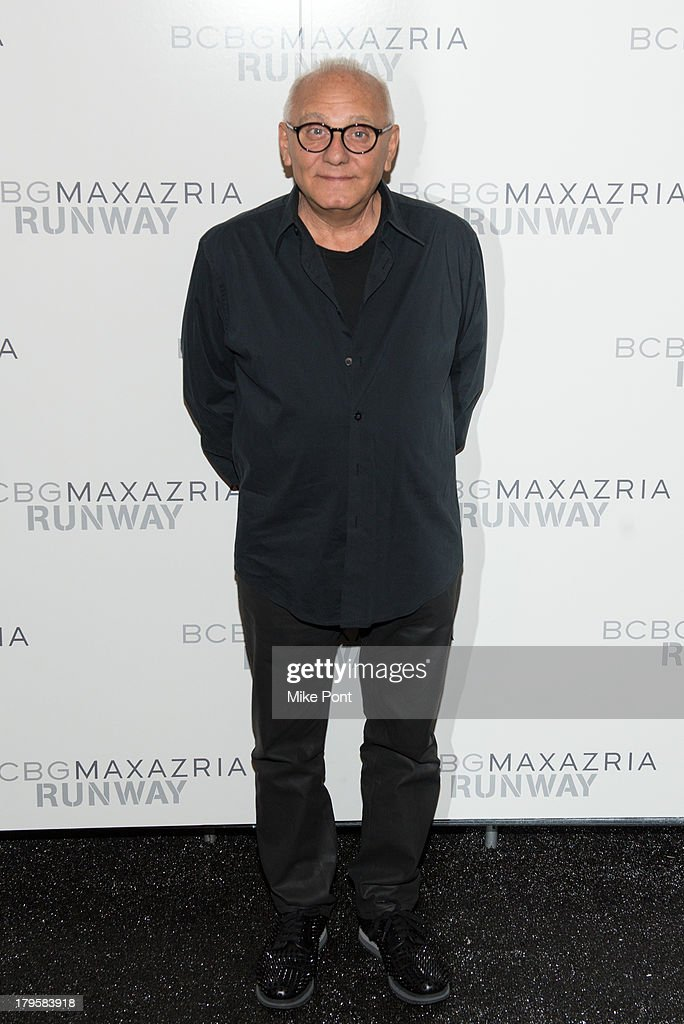 Designer Max Azria attends the BCBGMAXAZRIA Spring 2014 fashion show at The Theatre Lincoln Center on September 5, 2013 in New York City.