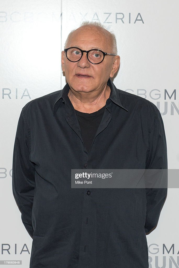 Designer Max Azria attends the BCBGMAXAZRIA Spring 2014 fashion show at The Theatre Lincoln Center on September 5, 2013 in New York City.