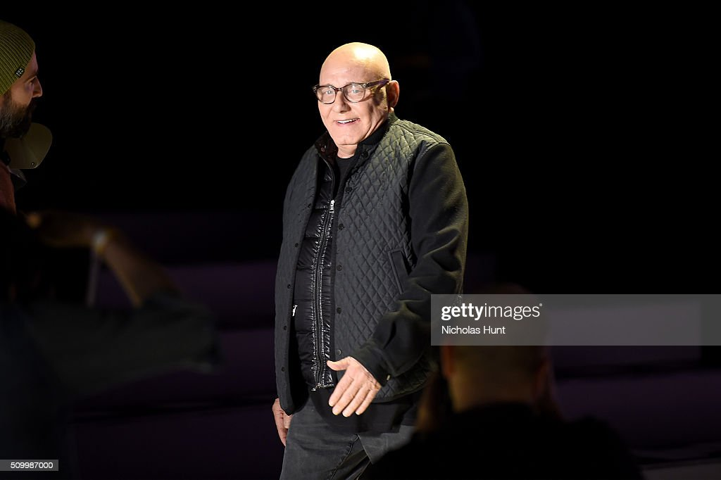 Designer Max Azria attends the Herve Leger By Max Azria Fall 2016 fashion show during New York Fashion Week: The Shows at The Arc, Skylight at Moynihan Station on February 13, 2016 in New York City.