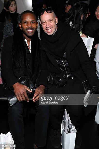Designer Mckenzie Liautaud and Robert Verdi attend the Concept Korea Fall 2016 fashion show during New York Fashion Week The Shows at The Dock...