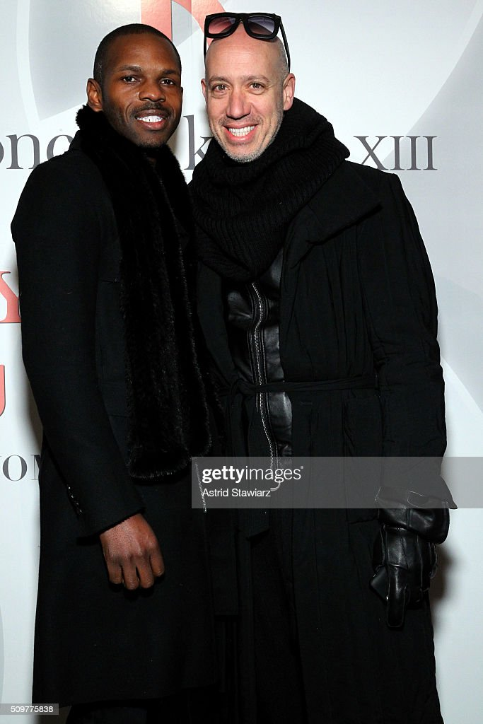 Designer Mckenzie Liautaud (L) and <a gi-track='captionPersonalityLinkClicked' href=/galleries/search?phrase=Robert+Verdi&family=editorial&specificpeople=209358 ng-click='$event.stopPropagation()'>Robert Verdi</a> attend the Concept Korea Fall 2016 fashion show during New York Fashion Week: The Shows at The Dock, Skylight at Moynihan Station on February 12, 2016 in New York City.