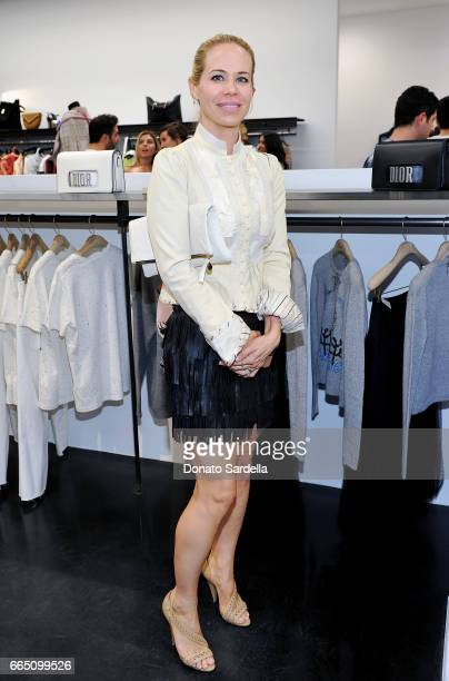 Designer Melinda Maria attends DIOR SS17 Collection Launch at Maxfield on April 5 2017 in Los Angeles California
