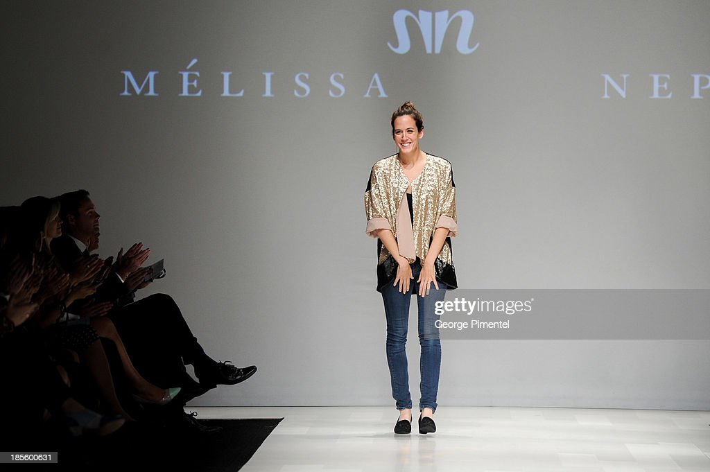 Designer Melissa Nepton presents her spring 2014 collection during World MasterCard Fashion Week Spring 2014 at David Pecaut Square on October 22, 2013 in Toronto, Canada.