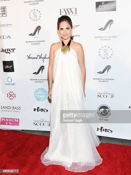 Designer Mena Lombard attends the 3rd Women Fashion FilmFest SHE WEBFest opening reception on November 12 2015 in New York City
