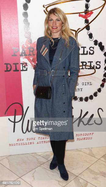 Designer Meredith Ostrom attends Plum Skye's 'Party Girls Die In Pearls' book launch celebration at Brooks Brothers on May 9 2017 in New York City
