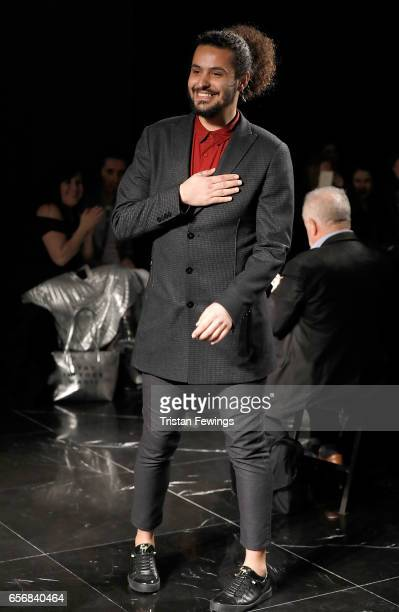 Designer Mert Erkan on the runway at the Mert Erkan show during MercedesBenz Istanbul Fashion Week March 2017 at Grand Pera on March 23 2017 in...