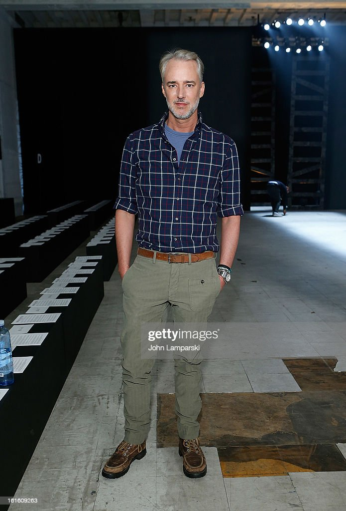 Designer Michael Bastian attends Michael Bastian during Fall 2013 Mercedes-Benz Fashion Week on February 12, 2013 in New York City.