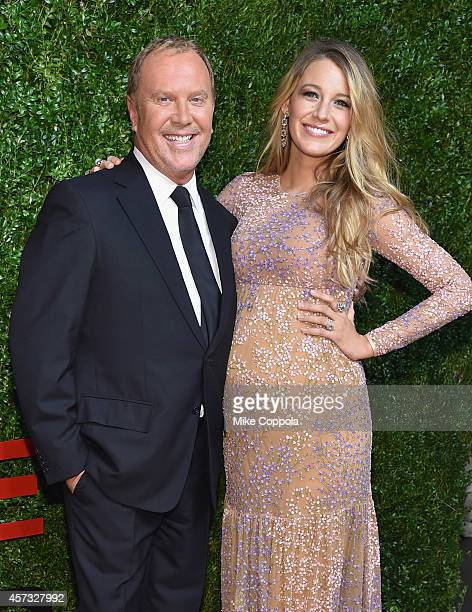 Designer Michael Kors and actress Blake Lively attend God's Love We Deliver Golden Heart Awards on October 16 2014 in New York City