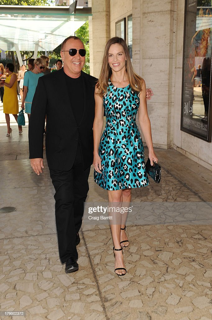 Designer Michael Kors and actress Hilary Swank attend The Couture Council of The Museum at the Fashion Institute of Technology hosted luncheon honoring Michael Kors with the 2013 Couture Council Award on September 4, 2013 in New York City.