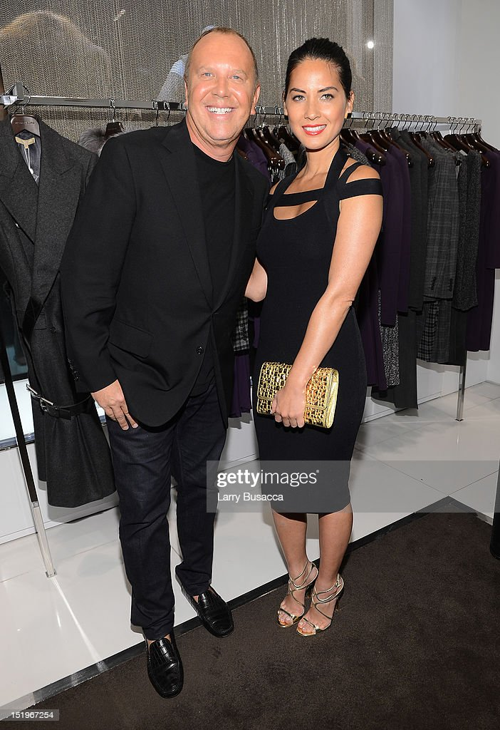 Designer Michael Kors and actress Olivia Munn attend Kors Collaborations: Claiborne Swanson Frank on September 13, 2012 in New York City.