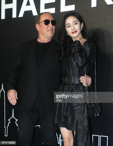 Designer Michael Kors and actress Yang Mi attend Michael Kors activity on November 15 2017 in Shanghai China