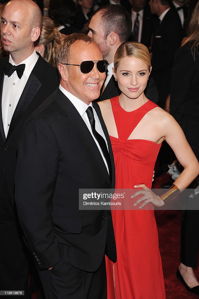 Designer Michael Kors and Dianna Agron attend the 'Alexander McQueen: Savage Beauty' Costume Institute Gala at The Metropolitan Museum of Art on May 2, 2011 in New York City.