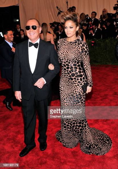 Designer Michael Kors and Jennifer Lopez attend the Costume Institute Gala for the 'PUNK Chaos to Couture' exhibition at the Metropolitan Museum of...