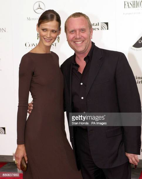 Designer Michael Kors and model Carmen Kass arrive at the 20th Annual American Fashion Awards at Lincoln Center in New York USA The awards are...