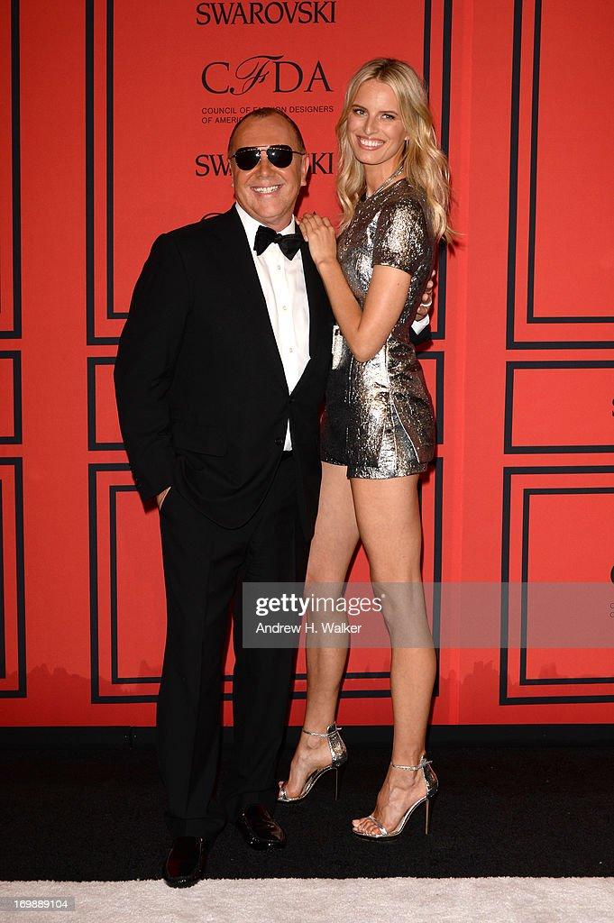 Designer Michael Kors (L) and Model Karolina Kurkova attend 2013 CFDA Fashion Awards at Alice Tully Hall on June 3, 2013 in New York City.