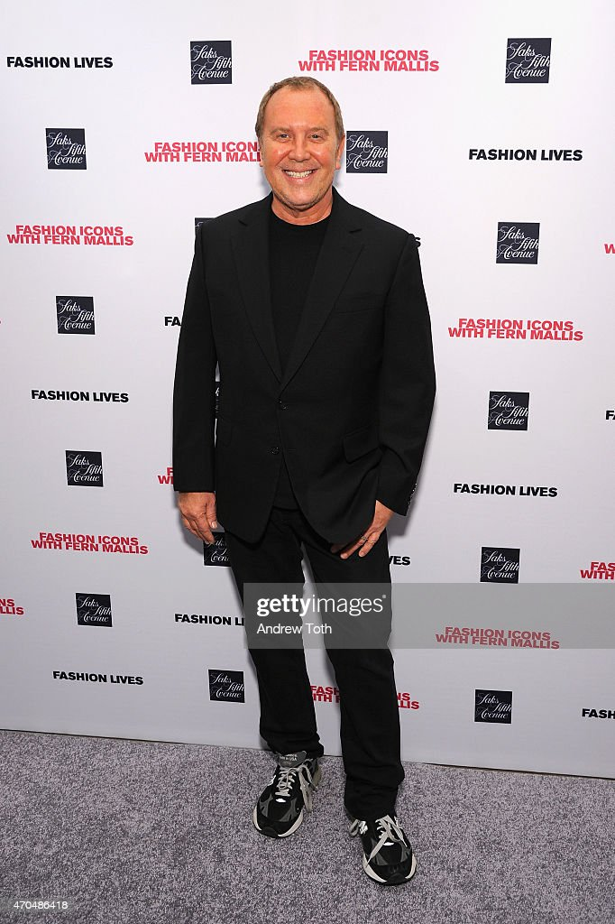 Designer <a gi-track='captionPersonalityLinkClicked' href=/galleries/search?phrase=Michael+Kors+-+Fashion+Designer&family=editorial&specificpeople=4289231 ng-click='$event.stopPropagation()'>Michael Kors</a> attends 'Fashion Lives' book launch at Saks Fifth Avenue on April 20, 2015 in New York City.