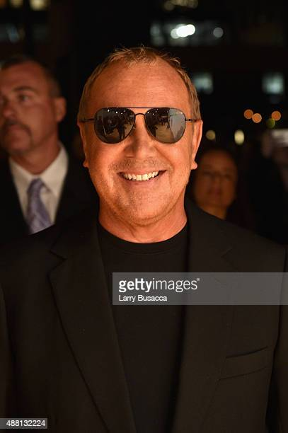 Designer Michael Kors attends the new Gold Collection fragrance launch hosted by Michael Kors featuring Duran Duran at Top of The Standard Hotel on...